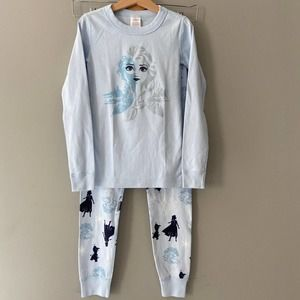 Hanna Andersson Frozen 2 Long John Pajamas Size 8